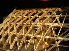 This is a design build project to be built in Cheticamp, Cape Breton. It is a lamella structure that will act as a canopy for bunk houses.