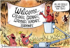 Qaddafi's name frustrates Devil in Hell.