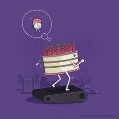 Propósitos de año nuevo. #Humor #Pastel
