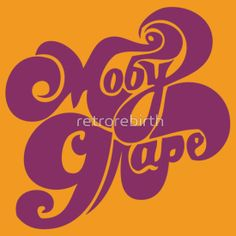 Moby Grape T-Shirt. !960's Graphic design. Very Like.