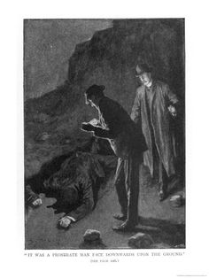 The Hound of the Baskervilles - Holmes and Watson Discover 'A Prostrate Man - Sidney Paget