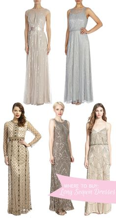 Where to Buy Long Sequin Bridesmaids Dresses | www.onefabday.com