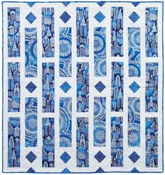 Lux Blue - Fancy That #quilt Such a simple design but so striking!