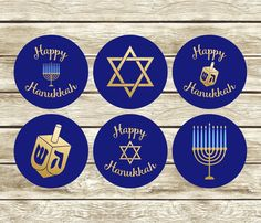 Gift Tags Printable, Printable Stickers, How To Celebrate Hanukkah, Hanukkah Gifts, Lollipop Sticks, Royal Icing Cookies, Cupcake Toppers, Holiday Parties, As You Like