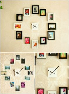 Photo Clock is always a stylish way to display photos. This one looks quite modern.