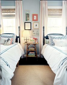 gender neutral bedroom - love the color combos and frames