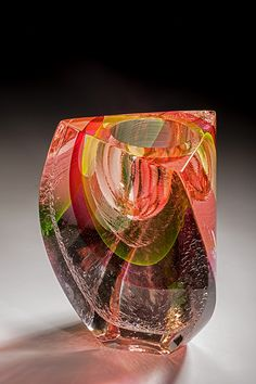 Jon Goldberg Art-Glass Sculptural Vessel ♥≻★≺♥