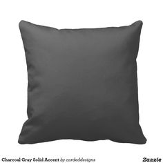 Charcoal Gray Solid Accent Throw Pillows