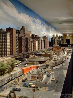model railroad city scenery | models