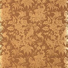 Chinese Damask in #brown from the Damask Resource collection. #Thibaut #Damask