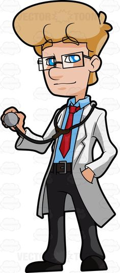 A Happy Blonde Doctor Holding A Stethoscope #adult #adultmale #checkup #civilian #clinic #consultation #doctor #full-grown #fullygrown #gentleman #grown #grownup #hospital #human #humanbeing #individual #job #line #lineofwork #male #maleperson #man #mature #medical #medicalprofessional #mortal #occupation #paid #person #pro #professional #professionalperson #skilledworker #skilledworkman #somebody #someone #trainedworker #whitecollar #work #vector #clipart #stock