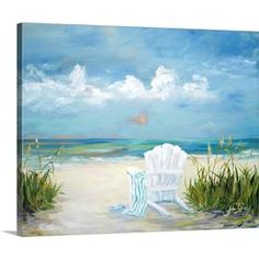 Julie DeRice Premium Thick-Wrap Canvas Wall Art Print entitled Beach Scene II ** Continue to the product at the image link. (This is an affiliate link) Abstract Canvas, Abstract Print, Canvas Wall Art, Wall Art Prints, Canvas Prints, Beach Canvas Paintings, Big Canvas, Framed Prints, Beach Scene Painting