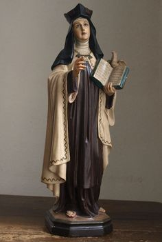Etsy のTeresa of Avila Glass Eye Antique Religious Statues Art 1920s Santa Teresa de Ávila Spain/572(ショップ名:GliciniaANTIC)