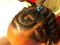 Braids and ponytails