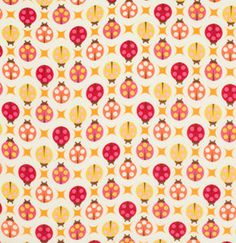 Lady Bugs in Sugar from Birds and Bees by Tula by sewfreshfabrics
