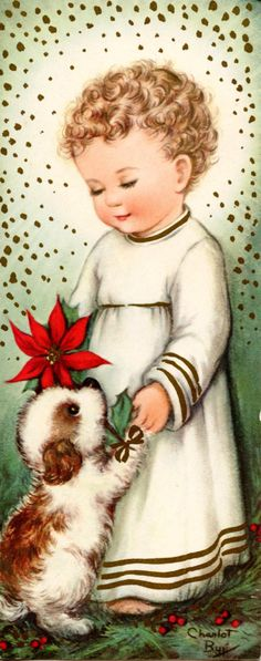 1940s Christmas Card by Charlot Byj