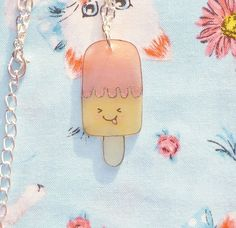 Strawberry and Banana Silly IceLolly Necklace by NiNEFRUiTSPiE, £2.50
