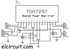 Circuit diagram of audio pre-amplifier using TL072 op-amp