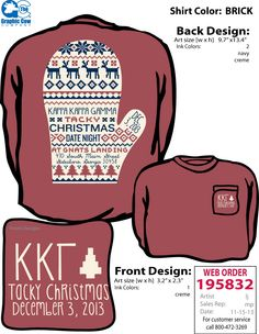 tacky christmas shirt. -- oh my god!! we should do this next year and get one this shirt is sooooo cute!