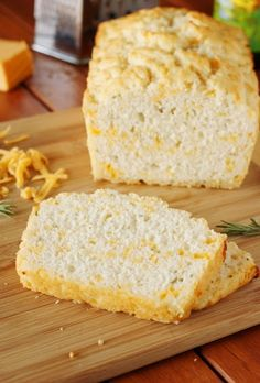 Cheddar-Rosemary Beer Bread ~ Make that loaf of fresh-baked beer bread even tastier with grated cheese and fresh herbs.    www.thekitchenismyplayground.com