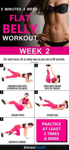 Workout for belly fat. How to reduce tummy fat? Accept this 4 week workout challenge for flat tummy. 4 week workout practice give you sexy toned abs and flat tummy. Check out more: https://timeshood.com/flat-belly-workout-plan/