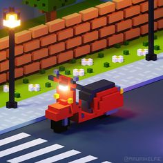 Minecraft Car, How To Play Minecraft, Minecraft Projects, 3d Pixel, Pixel Art, Low Poly Games, Pixel Games, Minecraft Tutorial, Game Environment