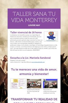 TALLER SANA TU VIDA MONTERREY 9 y 10 feb