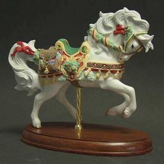 The 1999 Christmas Carousel Horse Figurine by Lenox