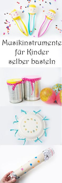 Musikinstrumente für Kinder selber basteln aus Upcycling Materialien schnell un… Tinker musical instruments for children themselves from upcycling materials quickly and easily Upcycled Crafts, Crafts To Sell, Diy And Crafts, Crafts For Kids, Arts And Crafts, Children Crafts, Making Musical Instruments, Kindergarten Crafts, Diy For Kids