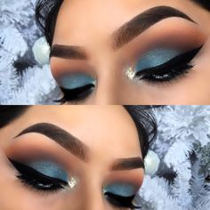 Blue eyeshadow makeup Eyebrows