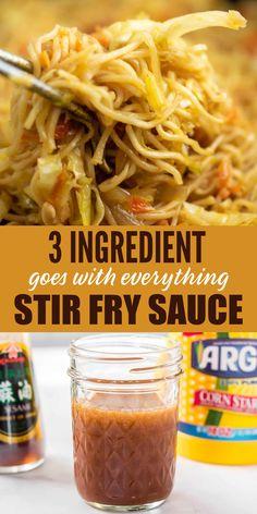 Asian Recipes, New Recipes, Dinner Recipes, Favorite Recipes, Healthy Recipes, Recipies, Stir Fry Recipes, Sauce Recipes, Cooking Recipes