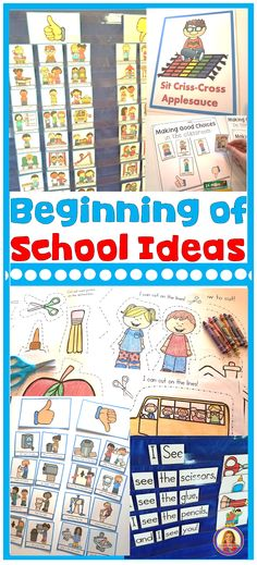 Beginning of School Ideas for Kindergarten