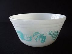 Federal Glass Milk Glass Mixing Bowl