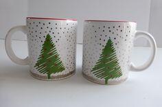 Waechtersbach Christmas Tree Coffee Mugs, Spain #Waechtersbach