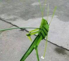 Children do straw grasshopper, went back to childhood! - Handmade enthusiasts