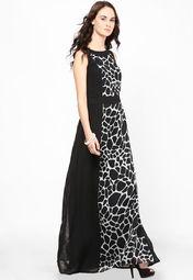 82054d3d756 Buy MIAMINX Black Colored Printed Maxi Dress Online - 2877538 - Jabong