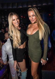 Amber Nichole Miller and Barbie Blank Souray at Marquee