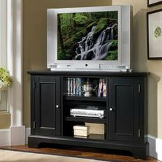 Bedford Corner Entertainment TV Stand   TV Stands & Entertaiment Centers   Brylanehome