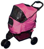 Pet Gear Weather Cover for Special Edition Pet Stroller for cats and dogs, Raspberry