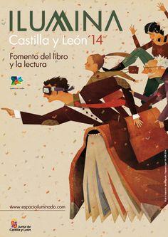 Jesús Aguado, premiado en diversos certámenes de cómic, firma el cartel de la cuarta edición de Ilumina Castilla y León. Toma el relevo, en 2014, de Raúl Allén, Noemí Villamuza y Violeta Lópiz, responsables de la imagen de las anteriores ediciones.