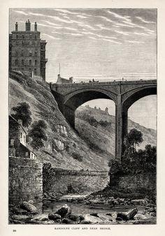 Randolph Cliff and Dean Bridge Edinburgh Scotland 1890 Wood Engraved Print | eBay