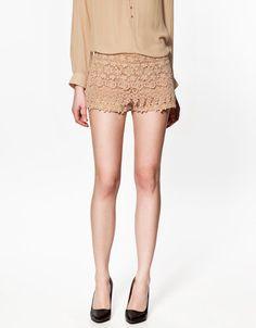 CROCHET SHORTS - Shorts - Woman - ZARA Romania