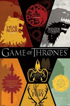 Game of Thrones - Sigils - Official Poster>>> Oh my gosh I have that hanging in my room!!!