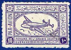 Airliner Stamp Saudi Arabia Stamp for sale-ME SA Ras Al Khaimah, Sharjah, Diy Leather Card Holder, Abou Dabi, Commemorative Stamps, Old Comics, Arabic Art, Expressive Art, Vintage Stamps