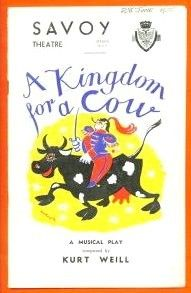 A Kingdom for a Cow Savoy Theatre, Musicals, Conversation, Cow, Twitter, Stuffing, Musical Theatre