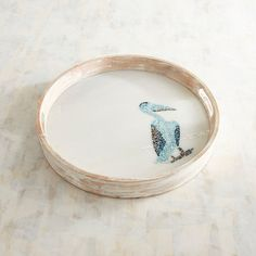 Pier 1 Imports Pelican Mosaic Marble Tray ($70) ❤ liked on Polyvore featuring home, kitchen & dining, serveware, mosaic tray, mosaic serving tray, drink serving trays, marble tray and pier 1 imports