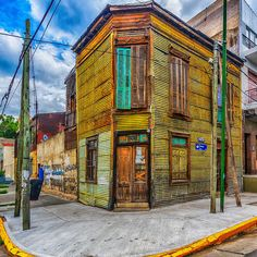 An old house in the La Boca district of Buenos Aires, Argentina, Picture: David Roby of Mawdesley, Lancashire