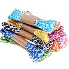 Outus 12 Pieces 2 mm/ 0.08 Inch Stripes Paper String for DIY Craft, 130 Yards (12 Colors) *** Read more reviews of the product by visiting the link on the image.