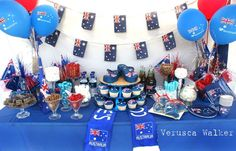 Australia day Lolly Table There is more then 10 different types of lollies. Australian Party, Australian Food, Australian Recipes, Party Table Decorations, Party Themes, Party Ideas, Theme Ideas, Perth, Australia Day Celebrations