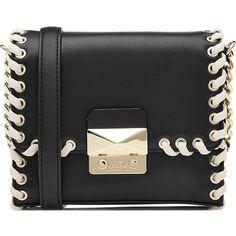 Karl Lagerfeld Leather Shoulder Bag (16,950 PHP) ❤ liked on Polyvore featuring bags, handbags, shoulder bags, black, leather shoulder bag, shoulder handbags, karl lagerfeld handbags, leather handbags and genuine leather shoulder bag